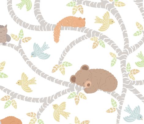 Woodland-Slumber fabric by jennifer_holbrook on Spoonflower - custom fabric