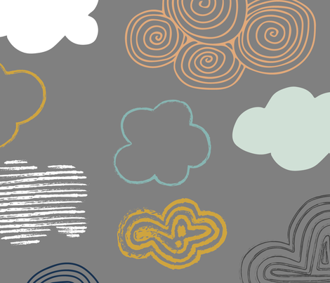 clouds baby fabric by abbeyrow on Spoonflower - custom fabric
