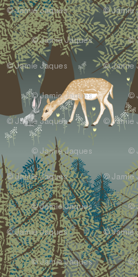 Forest Friendships in Large Scale Wallpaper