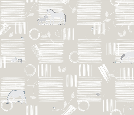 We all Love Horses fabric by liluna on Spoonflower - custom fabric
