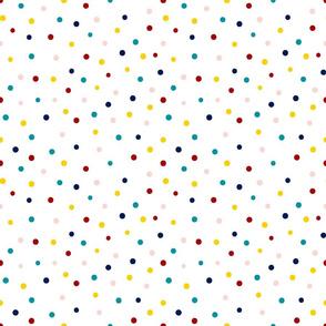 dots makeup coordinate // colorful, polka dot, coordinate