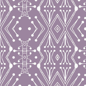 Tribal Drum Sticks, Violet Gray, XL