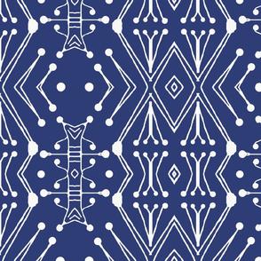 Tribal Drum Sticks, Navy Blue, XL