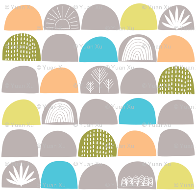 Scallop Nursery Wallpaper