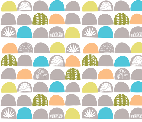 Scallop Nursery Wallpaper fabric by ldpapers on Spoonflower - custom fabric