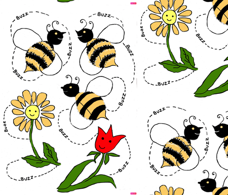 What's the Buzz__edit fabric by dizzybeedesigns on Spoonflower - custom fabric
