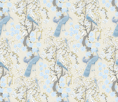 Chinese Garden fabric by j9design on Spoonflower - custom fabric