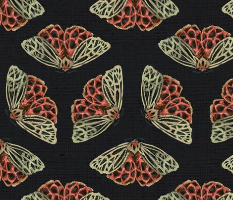 Tiger Moths  fabric by solstice_handmade on Spoonflower - custom fabric