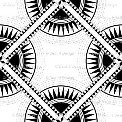 Circa: Jumbo Black & White Graphic Quilt Pattern