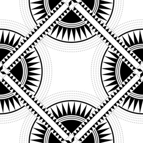 Circa: Jumbo Black & White Graphic Quilt Pattern
