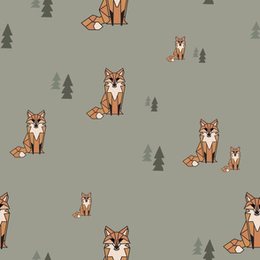 Simple Geometric Foxes and Trees