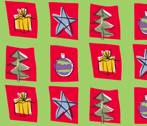 Christmas Squares fabric by printscharming on Spoonflower - custom fabric