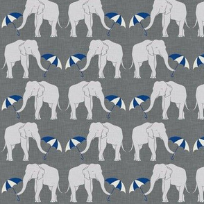 elephant and umbrella navy small