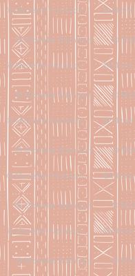 Mudcloth Jumbo Scale (Dusty Pink)