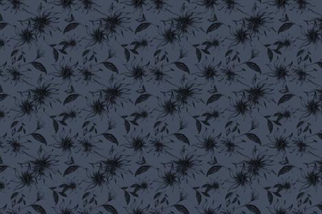 Elegant Floral Pattern Winteri Nights Dark fabric by afrancinedesign on Spoonflower - custom fabric