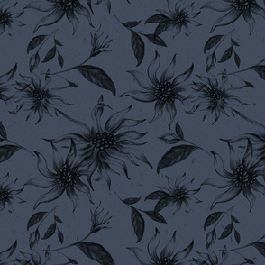 Elegant Floral Pattern Winteri Nights Dark