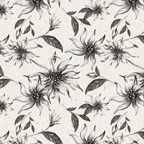 Elegant Floral Pattern of Winteri Flowers