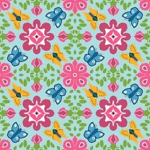JWQ orange and blue butterflies 21