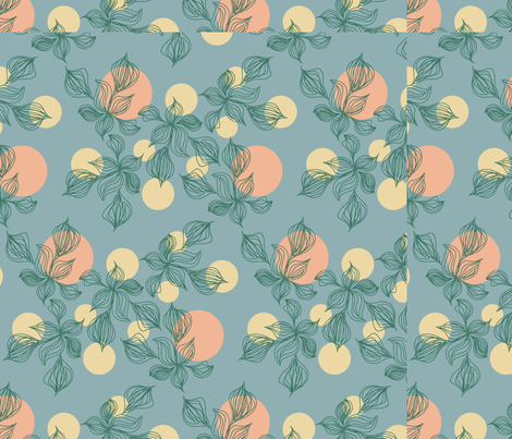 Moonlight Botanical fabric by longwill_designs on Spoonflower - custom fabric