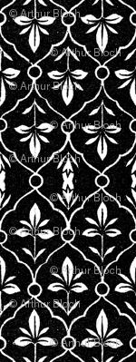 indo-persian black and white