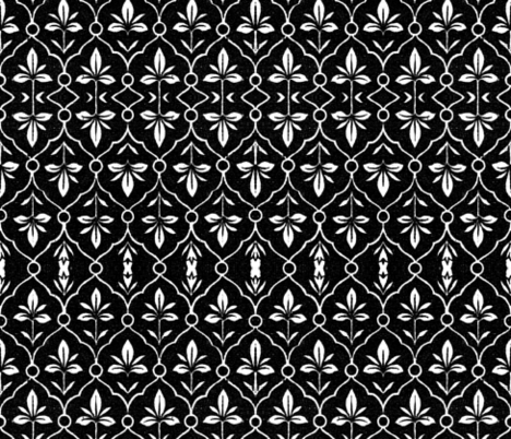 indo-persian black and white fabric by hypersphere on Spoonflower - custom fabric