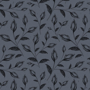 Dark Blue Floral Pattern, Sweet Dreams
