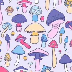 Mushrooms - Pastel