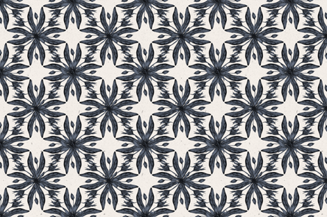 Blue Floral Half-Drop Pattern fabric by afrancinedesign on Spoonflower - custom fabric