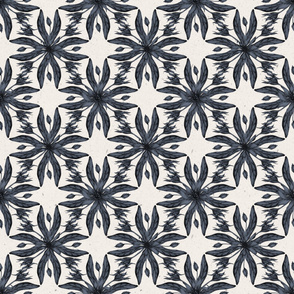 Blue Floral Half-Drop Pattern