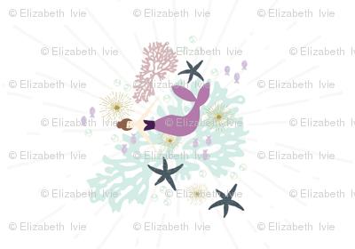 laguna mermaid changing pad cover
