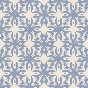 "Blue Silhouette Floral, ""Winteri Steady"""