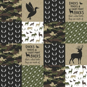 So deerly loved - Ducks, Trucks, and Eight Point bucks - patchwork - woodland wholecloth - camo C2 duck & buck