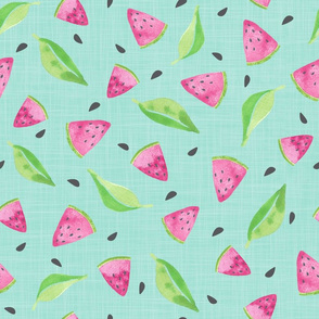 Watermelons Teal