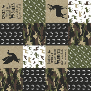 So deerly loved -Ducks, Trucks, and Eight Point bucks - patchwork - woodland wholecloth - camo C2 duck & buck (90)