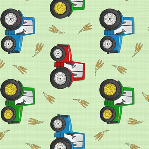 Large Tractors and Wheat - rotated