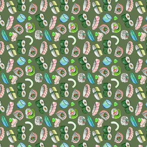 Dancing Sushi olive (vertical)