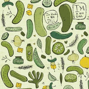 I'm kinda a big dill / pickle / large scale-medium size