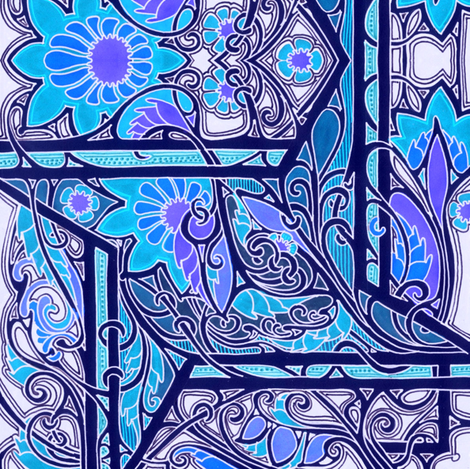 Big Blue Window fabric by edsel2084 on Spoonflower - custom fabric