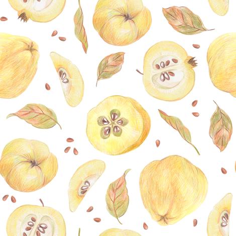 Rustic quince fabric by alenkakarabanova on Spoonflower - custom fabric