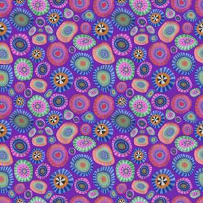 Mille fiori dark purple