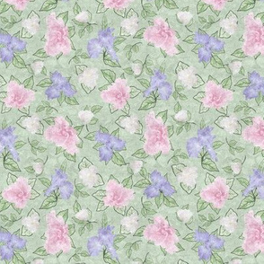 Flower Play Small Antique Lav Pink white Green