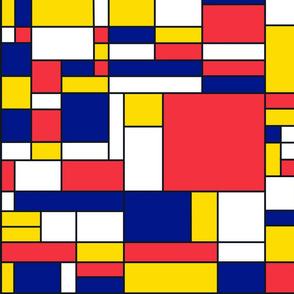 Mondrian style pattern