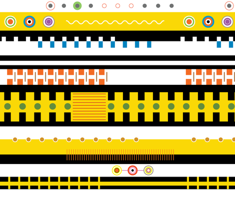 Taxi along the yellow brick road that is also coloured like a taxi fabric by indrajeet on Spoonflower - custom fabric