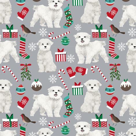 Maltese Christmas Fabric Maltese Christmas Gift Wrap Cute Dog