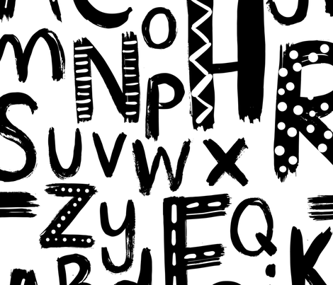 nursey alphabet 2 fabric by laura_may_designs on Spoonflower - custom fabric
