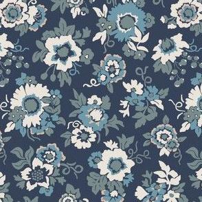 Bouquets midnight blue/eggshell