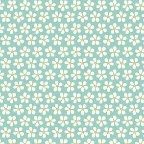 Ditsy Floral pale teal
