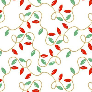 christmas garland on a white background