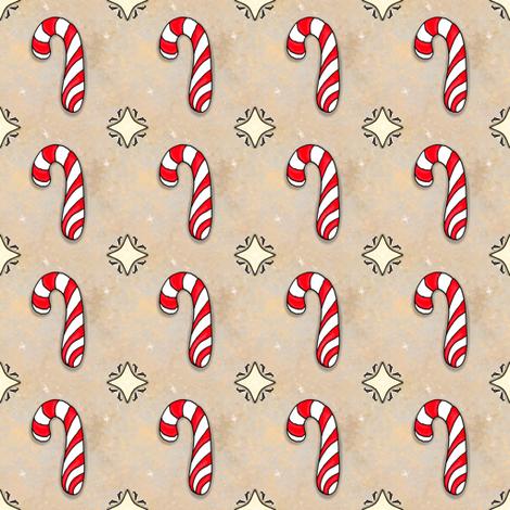 Christmas Candy Cane | Peppermint | Project 835.1 fabric by bohobear on Spoonflower - custom fabric