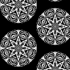 Tribal Star Carving on Deep Black